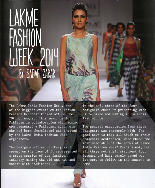Sania Maskatiya at Lakme India Fashion Week