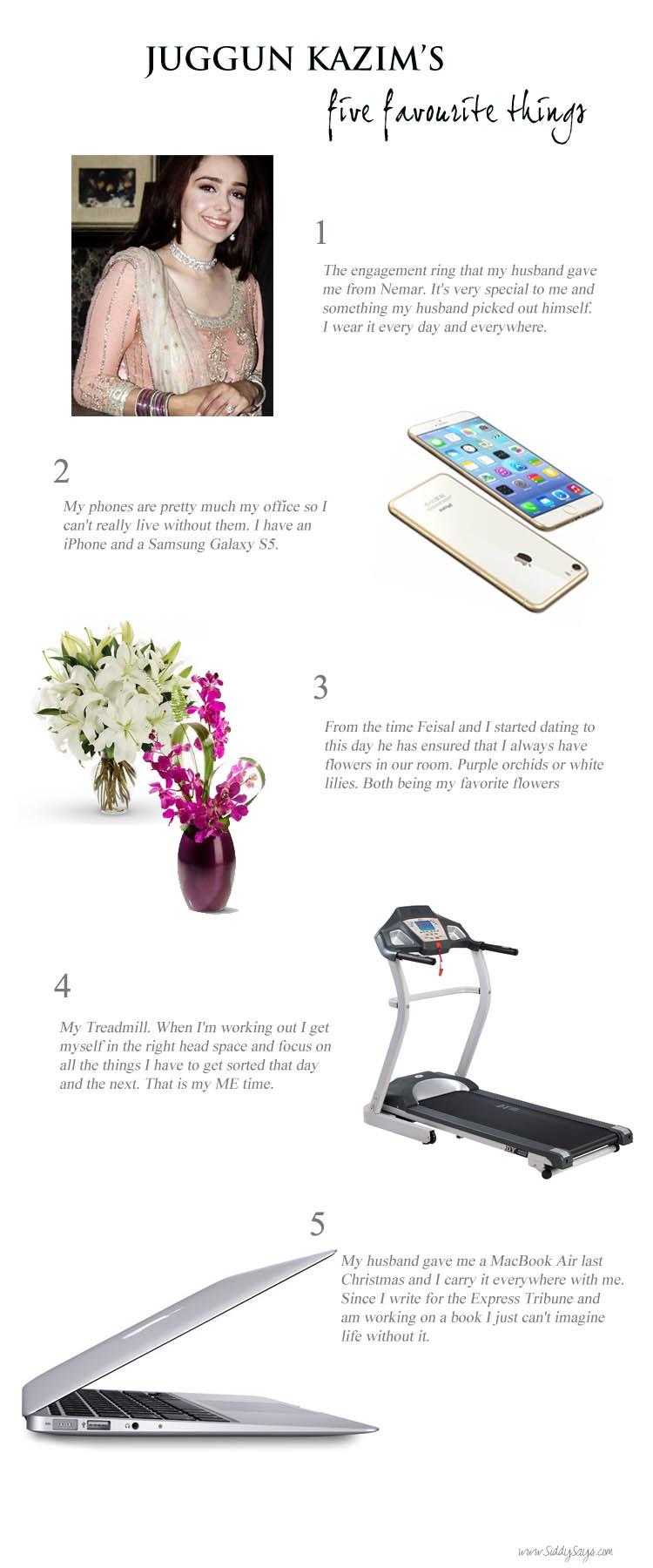 Juggun Kazim 5 Favourites Things