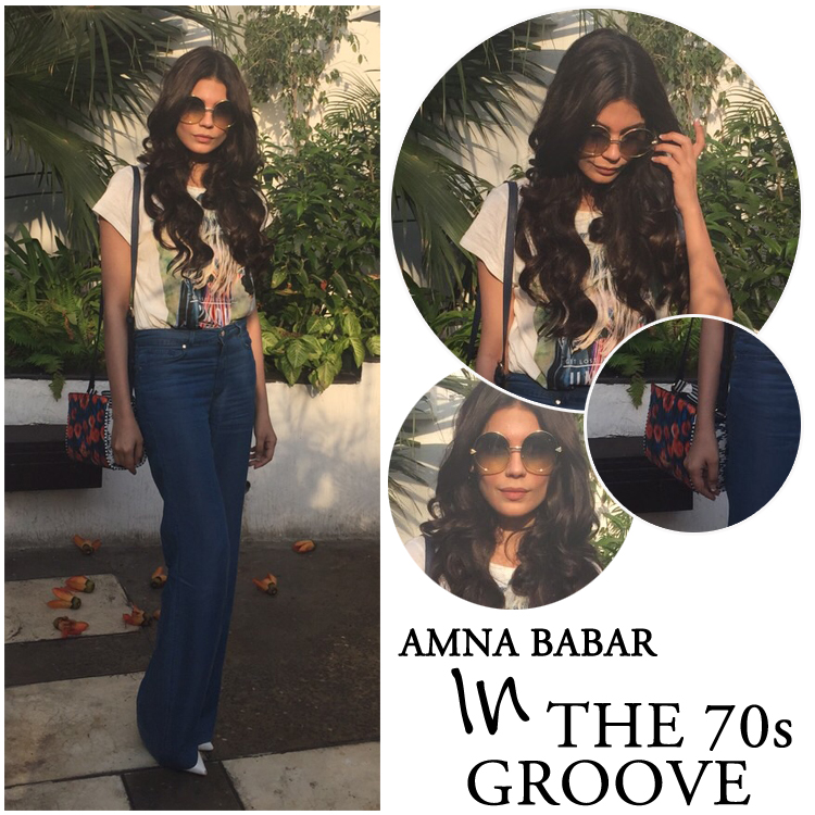 Amna Babar in the 70s Groove