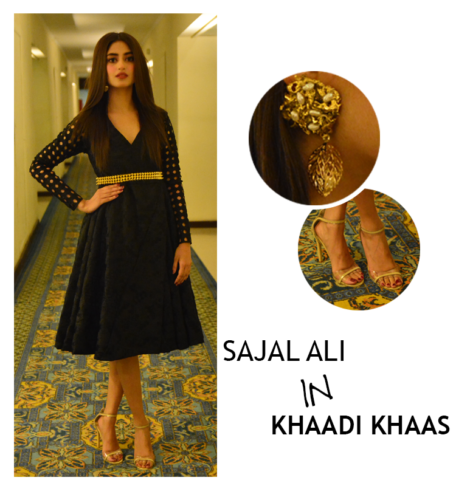 SAJAL ALI in khaadi khaas Hum Awards