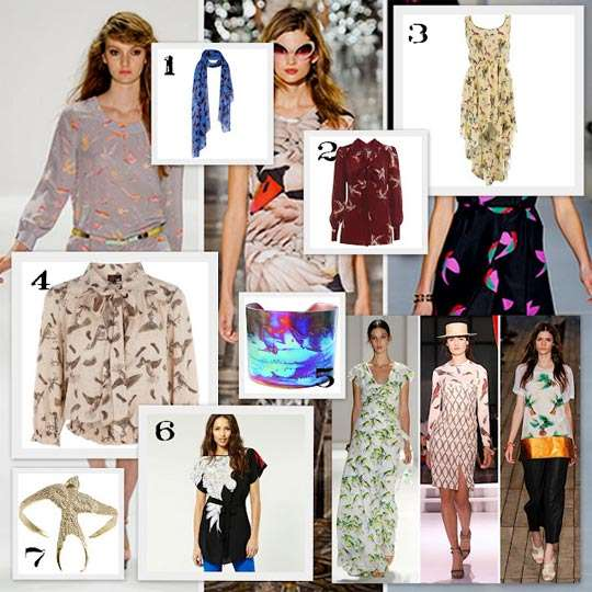 Trends: Bird Prints Spring Summer 2012