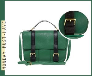 Monday Must Have 15 - Asos Green Straight Flap Satchel Bag
