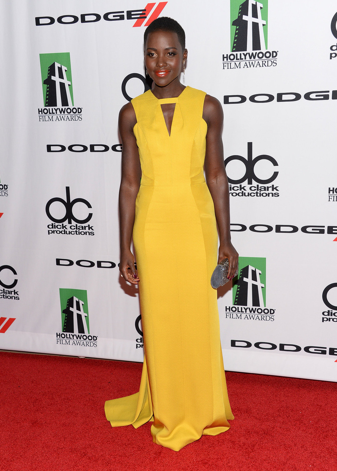 Lupita-Nyongo-worked-red-carpet-long-yellow-dress