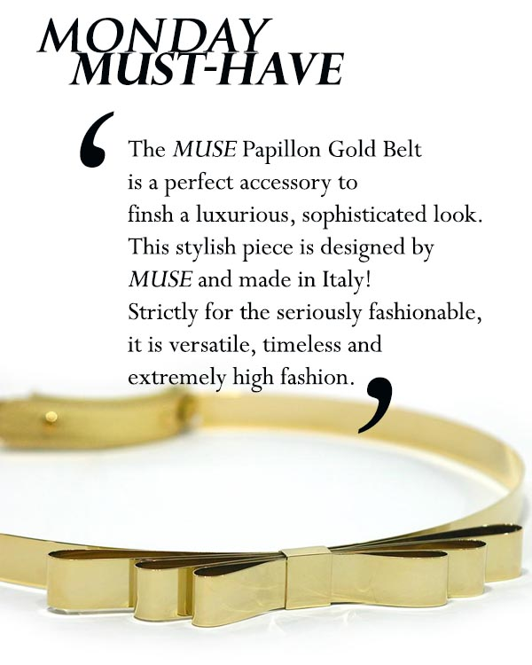 Muse Papillon Gold Belt