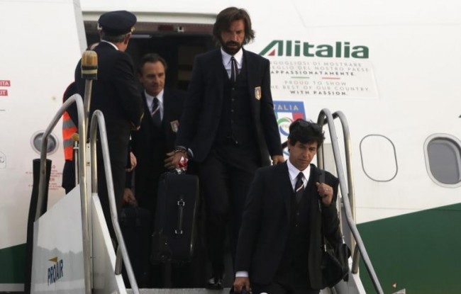 Team Italy arrives at World Cup