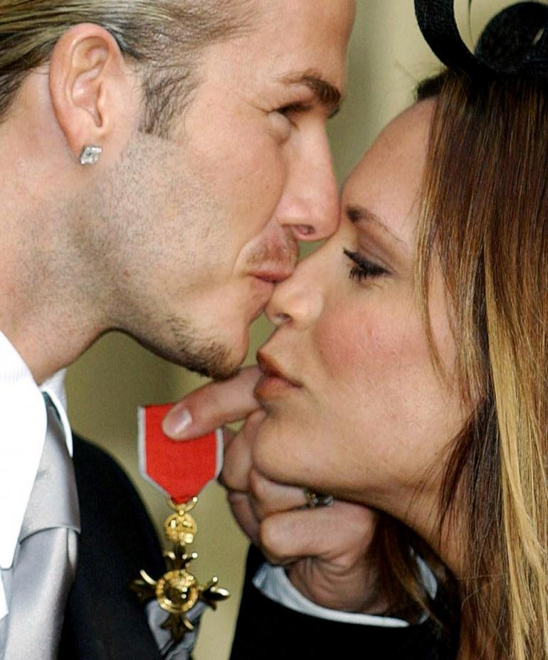 David and Victoria Beckham Moments - OBE
