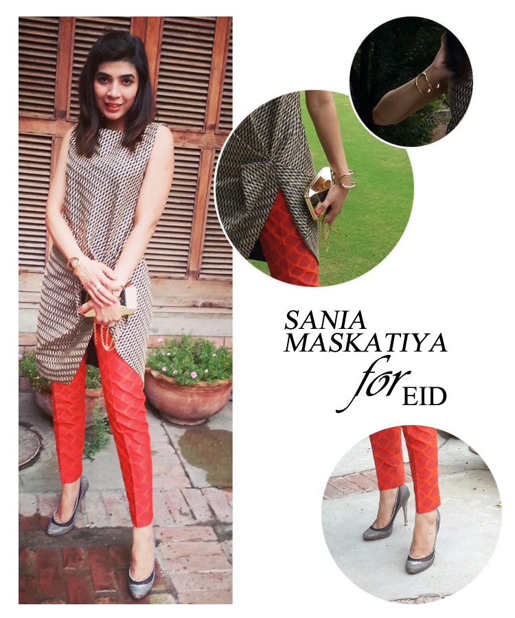 Sadaf Zarrar Sania Maskatiya for Eid