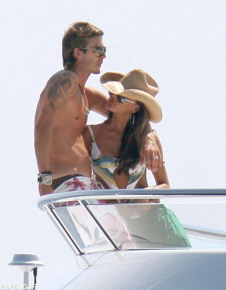 VICTORIA AND DAVID BECKHAM MOMENTS - St Tropez Holiday
