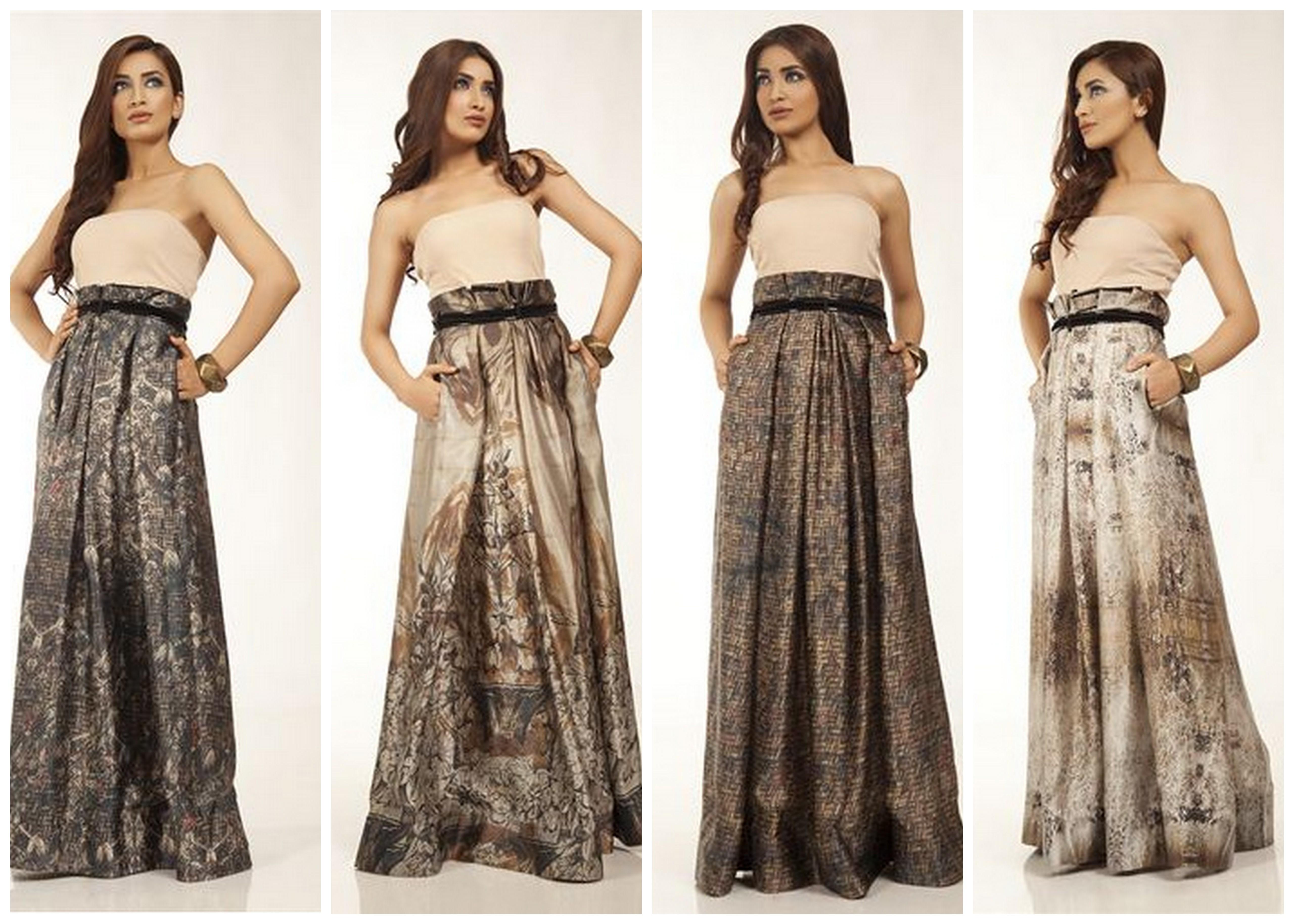 Fahad Hussayn Silk Maxi Skirts