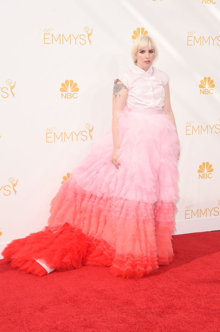Lena Durham at Emmys 2014
