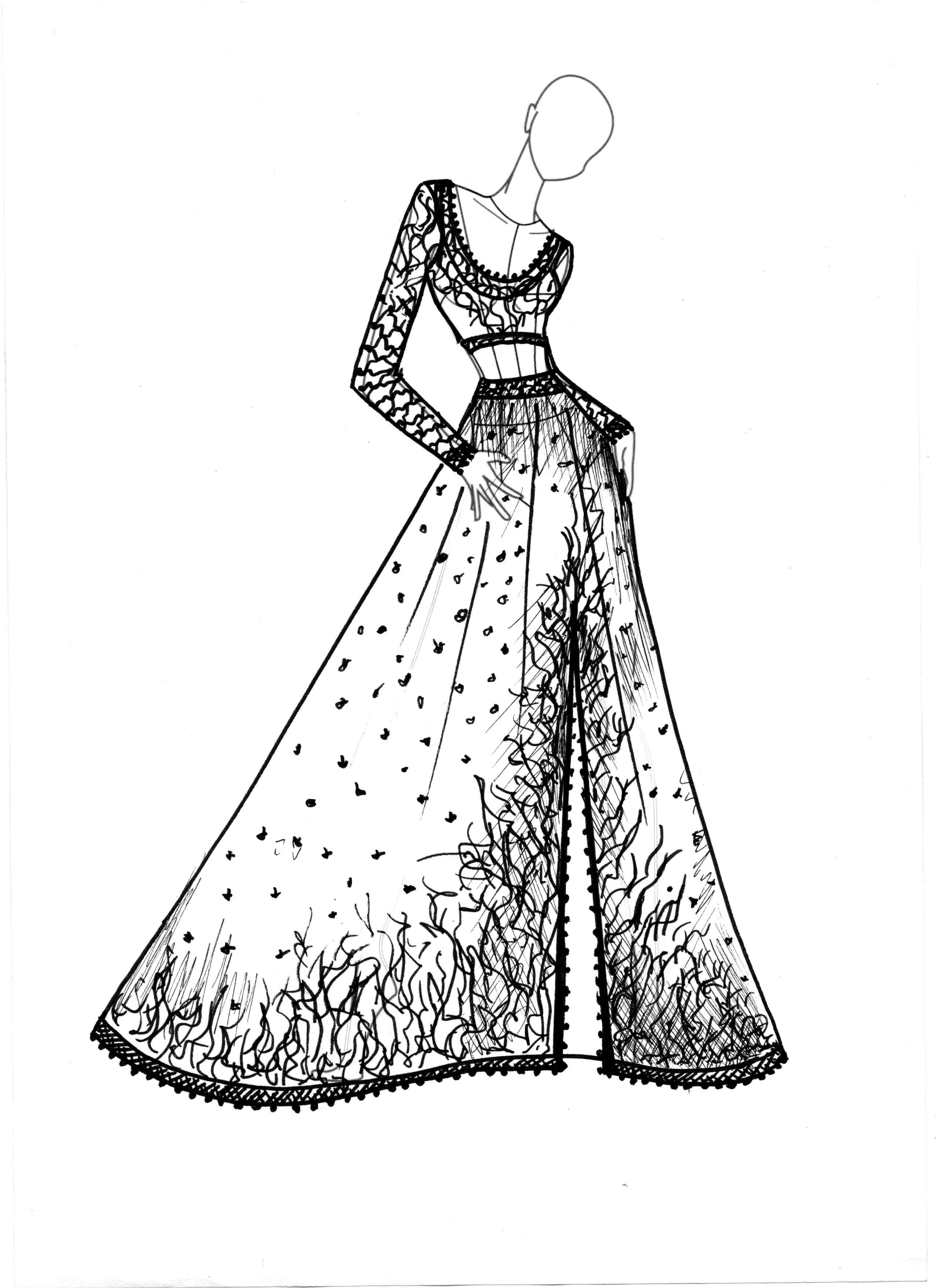 Sania Maskatiya Ara-Ornaments Concept Sketch (2)