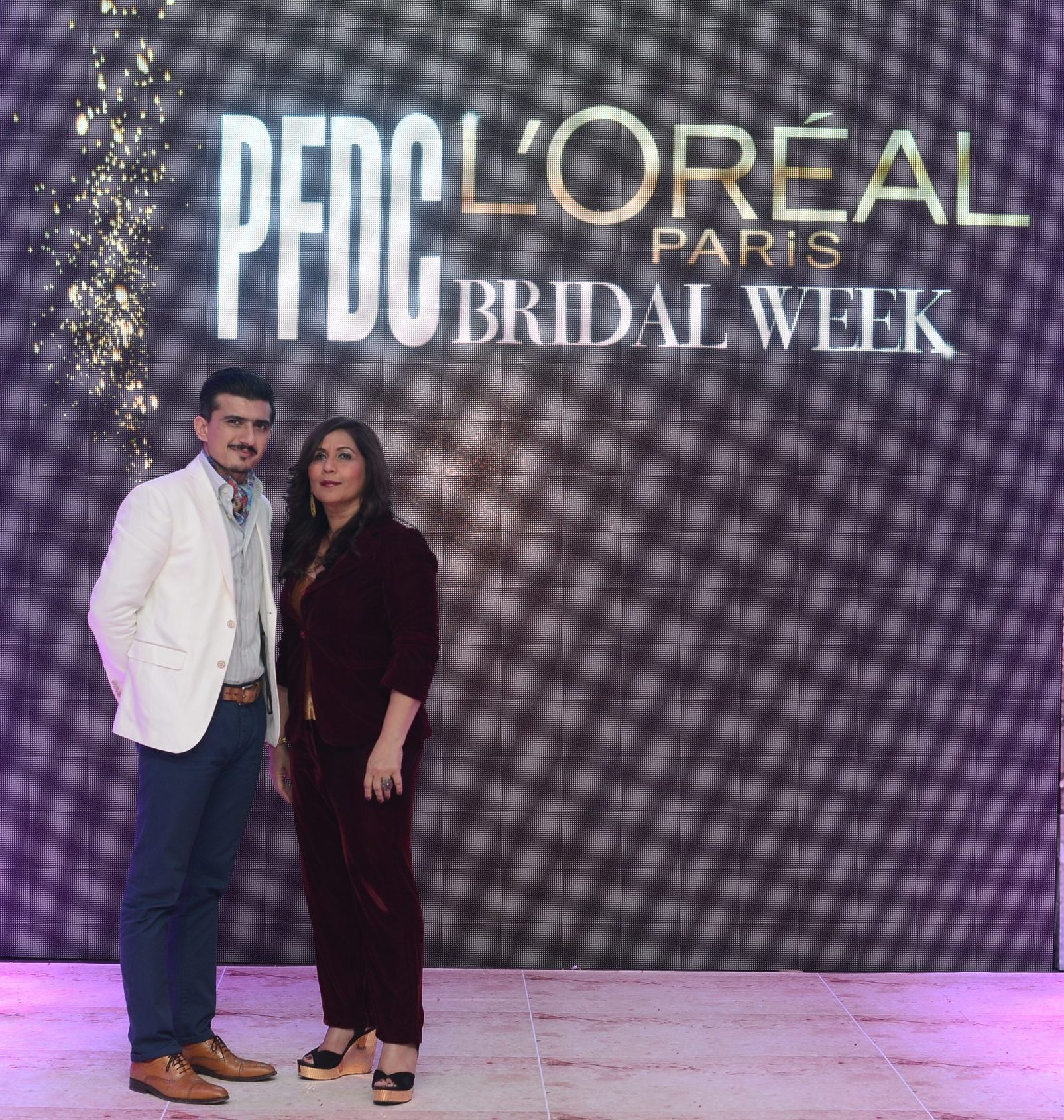 General Manager L'Oreal Pakistan Moazzam Ali Khan with Managing Director L'Oreal Pakistan Musharaf Hai