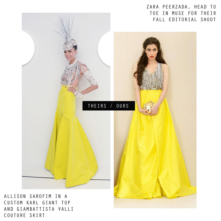 Power Skirt Yellow Skirt Trend for Fall 2014