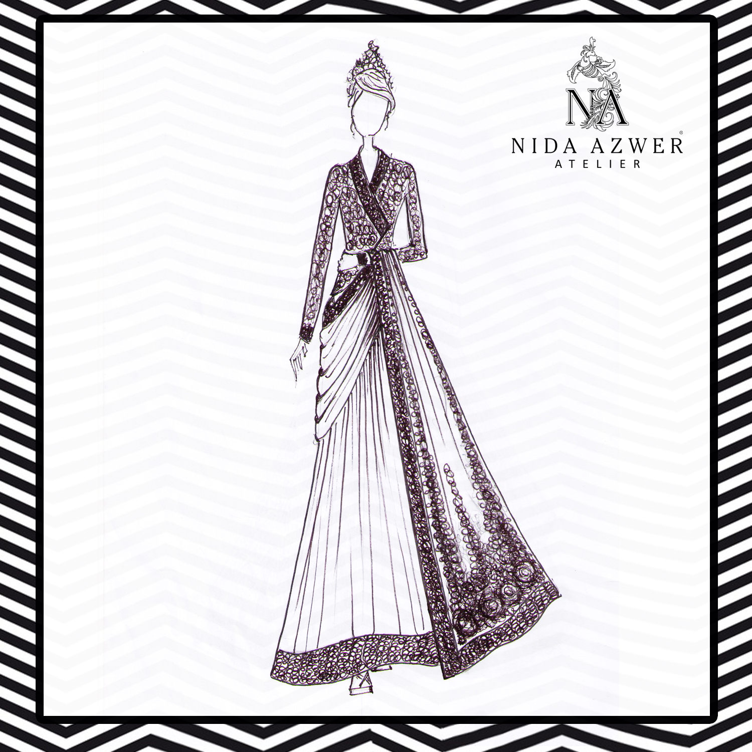 Nida Azwer Collection Sketch for FPWAW 2014