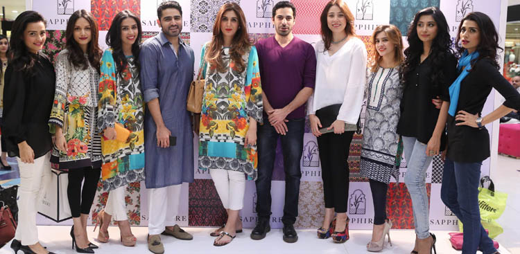 Creative Director Khadijah Shah with Momal,       Mira,       Maha,       Umair,       Nadir,       Sanam,       Raana,       Hira and Fia