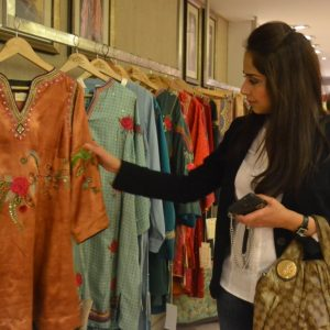 Saira Rizwan at Rano's Heirlooms opening