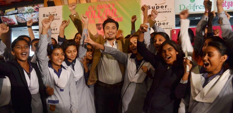 Ali Zafar with Sanjan Nagar Students at Kill Dil Screening