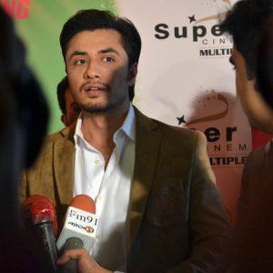 Ali Zafar speaking to the Media