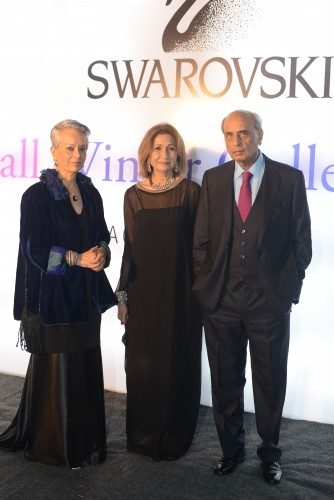 "Maheen Khan,    </script> Naz Mansha and Mian Muhammad Mansha at the launch of Swarovski Pakistan"" width=""500″ height=""748″ /></p><p>The presentation was a show with models wearing Swarovski pieces with outfits designed by the in house team at Nishat. This was followed by a fireworks display and eventually the guests got to see the latest collection by Swarovski up close at the specially designed display area.</p><p>Tasteful and to the point… Not trying too hard. That's what we expect from the Swarovski brand and that is what the team delivered. If you're wanting to go check the out right now, </script> you should know that three 'stores in stores' are already functional in Karachi, </script> Lahore and Islamabad and you can visit the Nishat outlets in Dolmen, </script> The Nishat and Centaurus – A total of five such stores are planned before a stand alone store is opened sometime in 2015.</p><p> </script> <img class="
