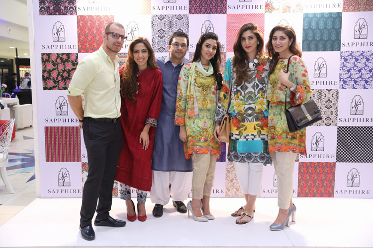 Team Sapphire - Director Nabeel and Creative Director Khadijah Shah with Saad,       Natasha,       Kulsoom and Meher Bano