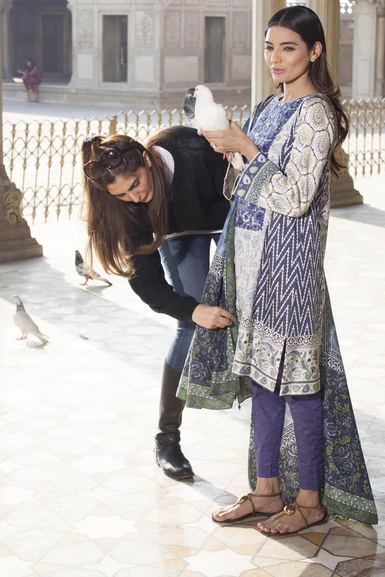 Khadijah Shah styles Sadia Khan for Sapphire