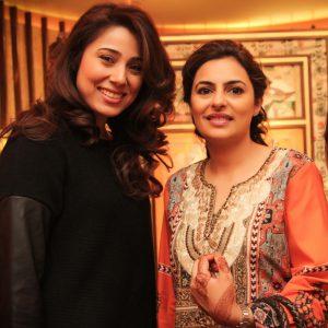 Sanam Chaudhri with Salima Feerasta
