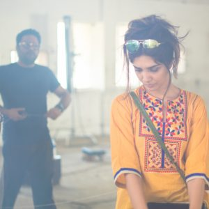 Aania Shah- Adnan Pardesy - BTS image- FPW collection Labyrinth 7