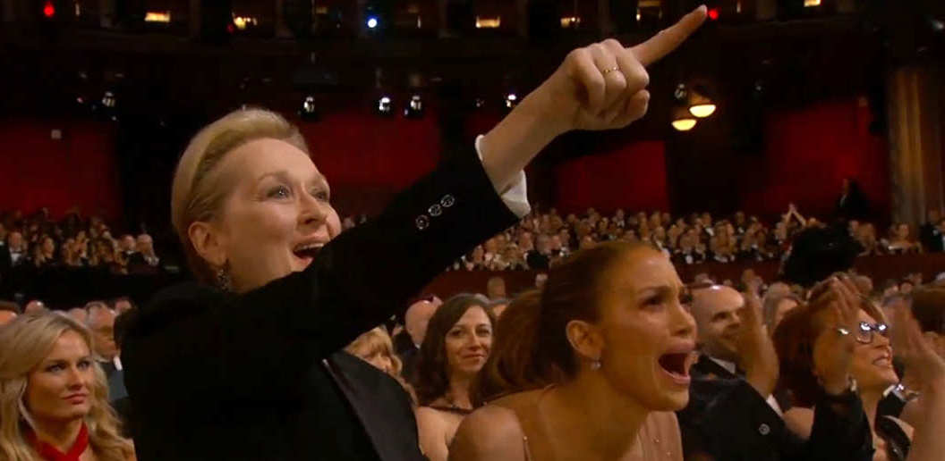 Meryl Streep and JLo at Oscars 2015