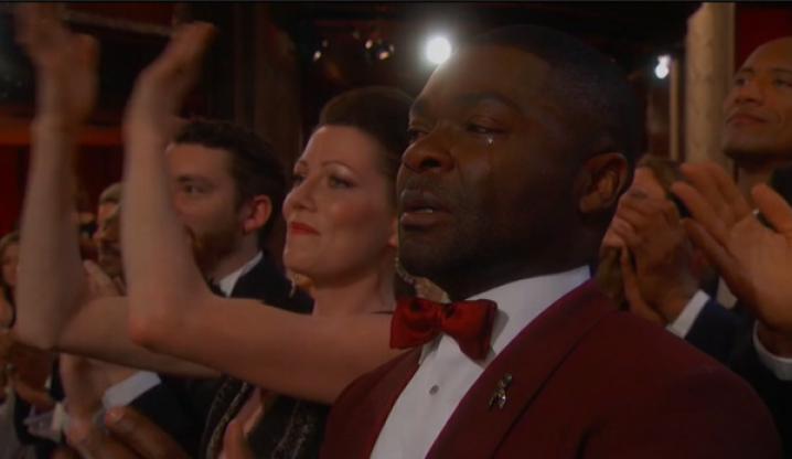 David Oyelowo cries