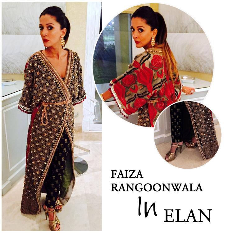 Faiza Rangoonwala in Elan