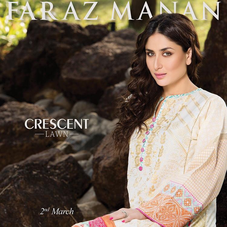 Faraz Manan Lawn Kareena Kapoor 2015