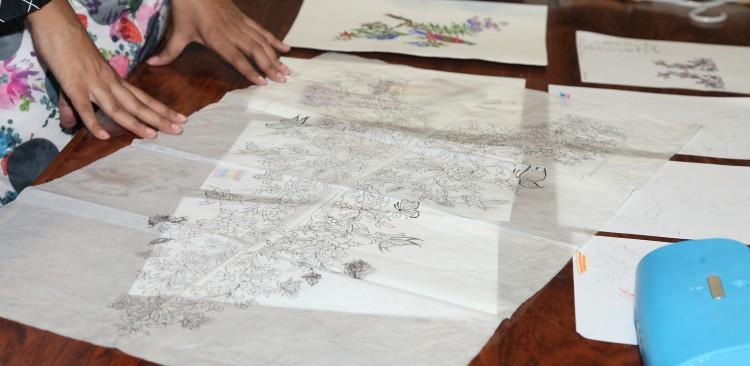 Zara Shahjahan Lawn - Sketches