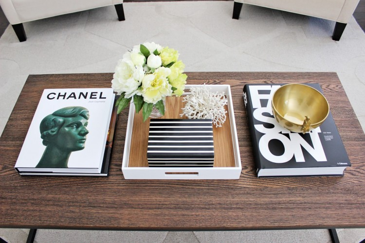 Stylish Black White Coffee Table Books2