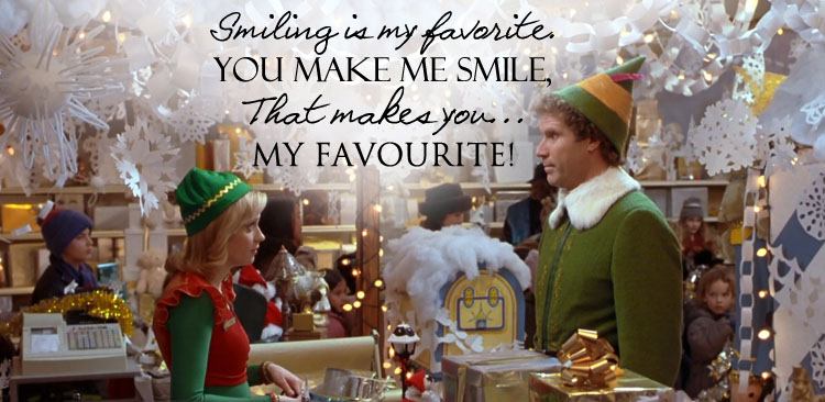 You Make Me Smile Quote Movie Elf