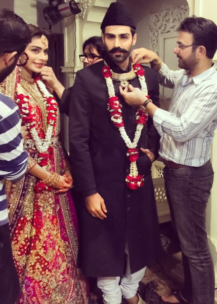 Ali Xeeshan BTS Bridal Shoot with Ather Shahzad. (1)