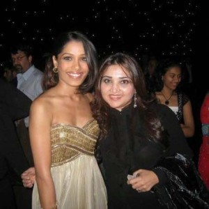 Frieda Pinto and Huma Amir Adnan