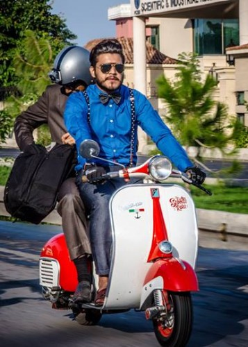 LIVE TWEED. RIDE DAPPER biker lahore