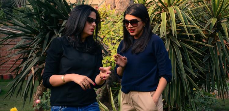 Amna Niazi and Sadaf Zarrar