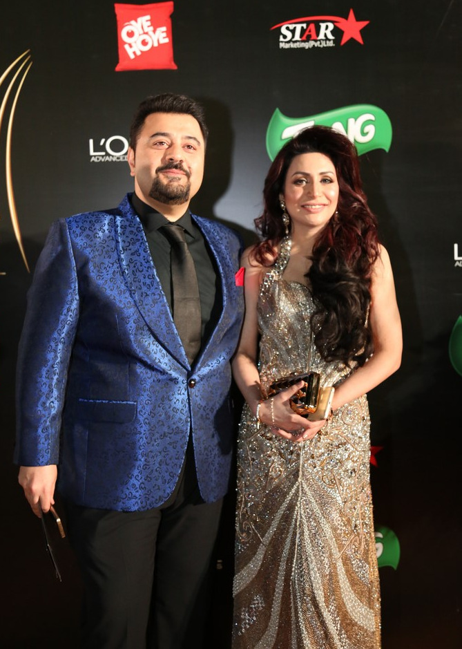 Ahmed Ali Butt and Fatima (1) at ARY Film Awards