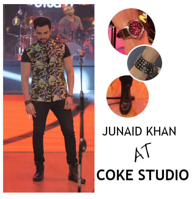 Junaid Khan at Coke Studio