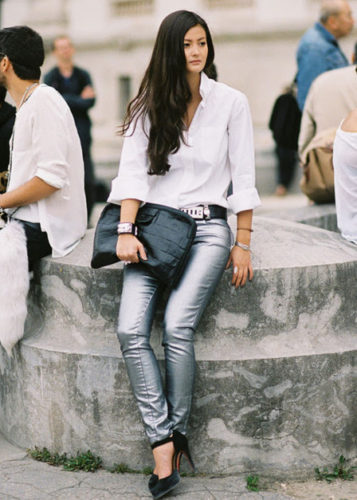street-style-metallic-pants