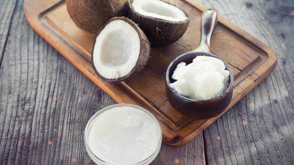 dandruff in winters: coconut oil