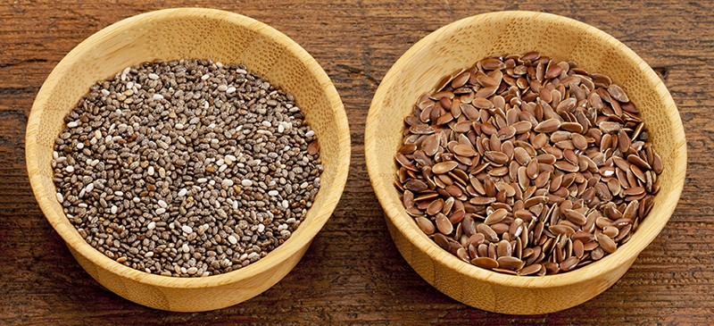 chia and flax seeds are super foods