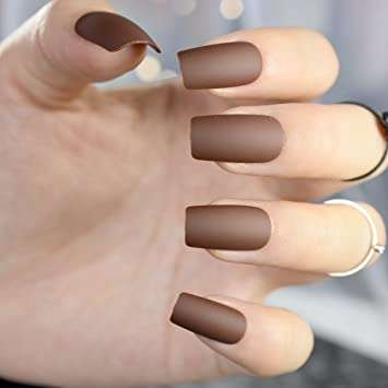 nail color trends chocolate brown