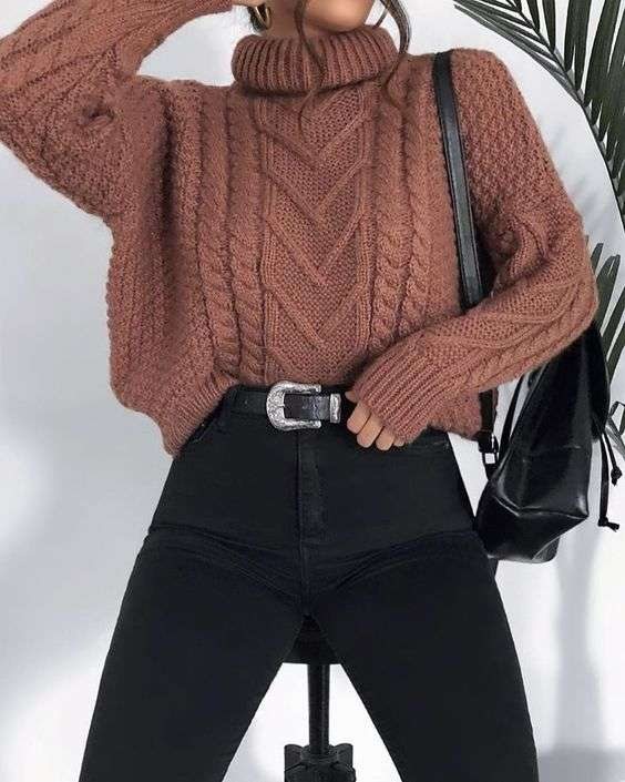 NEUTRALS: turtle neck sweater